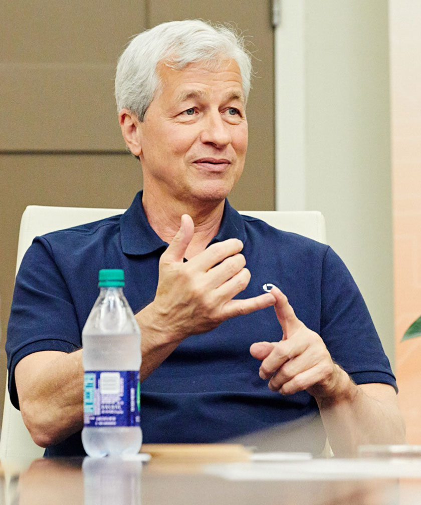 Photograph of JP Morgan Chase CEO Jamie Dimon