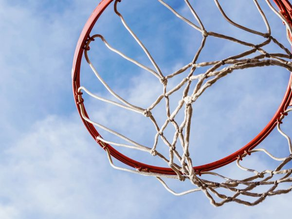 Stock image of a basketball rim.