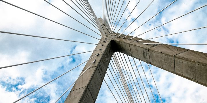 Image of a cable bridge