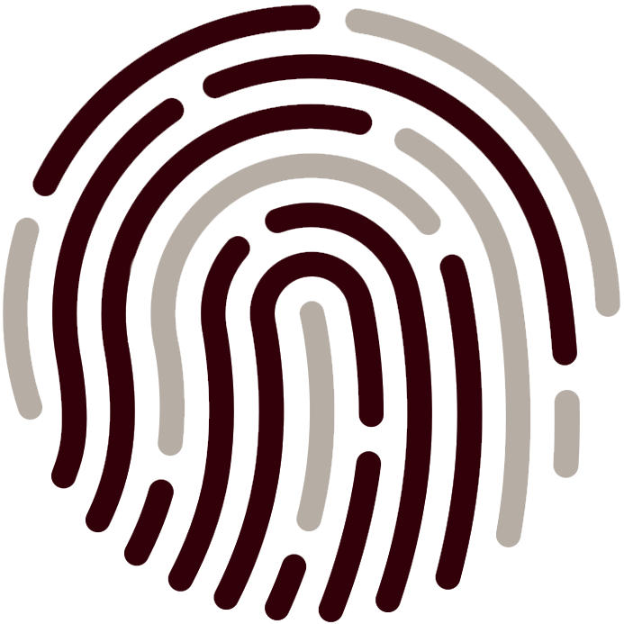Illustration of a fingerprint on Touch ID.
